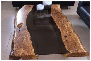 tavolino in legno di ulivo